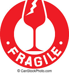 fragile stamp (fragile symbol)