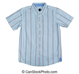 shirt with short sleeves - Light-blue shirt with short...
