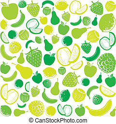 seamless pattern with fruit fruits background, seamless...