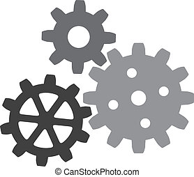 growing gears gear icon, vector gears icon
