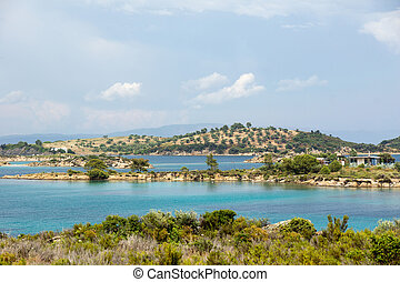 Aegean sea - Vourvourou coast, Chalkidiki, Sitonia, Greece