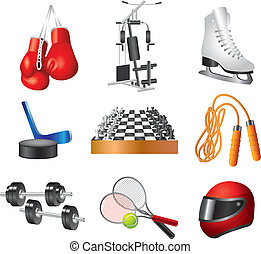 sport icons vector set - icons for sport shop colorful...
