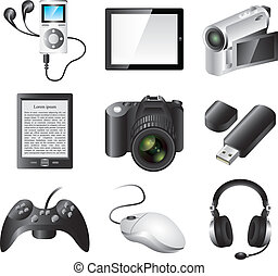 electronic devices vector set - popular electronic devices...
