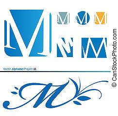 Vector Alphabet Project M 2