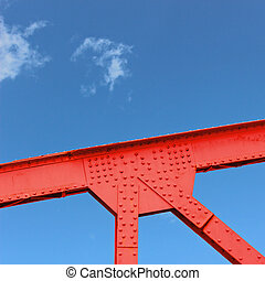 Steel Bridge Gusset - A Closeup of a Steel Bridge Gusset...