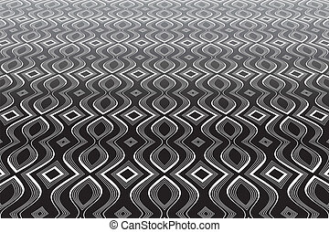 Abstract op art background. Textured surface. Vector art.