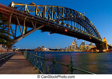 Sydney Harbour Bridge At Dusk - Sydney Harbour Bridge at...