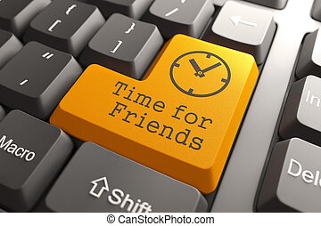 Keyboard with Time For Friends Button.