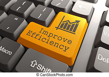 Keyboard with Improve Efficiency Button. - Orange Improve...