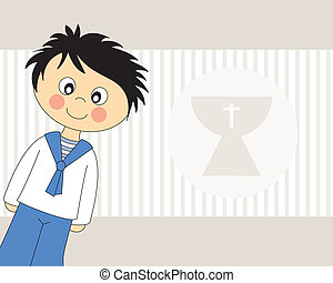 First CommunionBoy - First Communion Invitation Card Boy