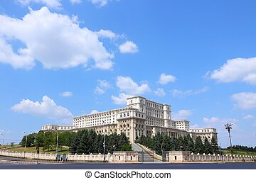 Bucharest, capital city of Romania Palace of the Parliament...