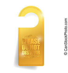 do not disturb door hanger illustration design over a white...