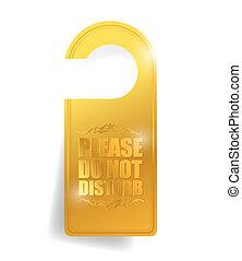 do not disturb door hanger illustration design