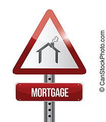 mortgage road sign illustration design