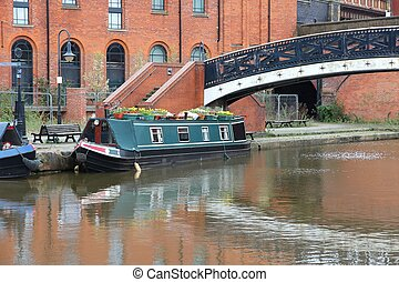 Manchester canal - Manchester - city in North West England...