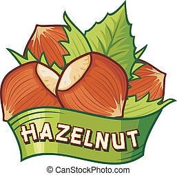 hazelnut label hazelnut symbol, hazelnut sign