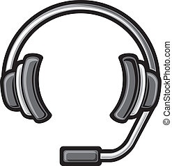 call center headset DJ headphones, headset symbol, headphone...