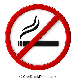 Smoking not allowed - 3d render of smoking not allowed sign