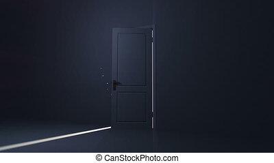 Door opening to a heaven light.
