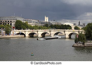 Pont Neuf, Paris - Paris, France - cityscape with river...
