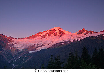 sunset in the mountains - Mount Baker, the 4th highest...