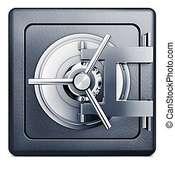bank vault - high resolution rendering of a bank vault icon