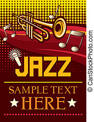 jazz poster jazz party poster, the concert poster