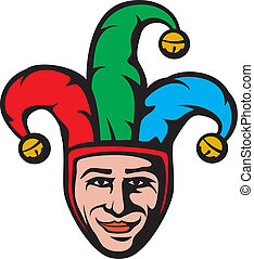 jester head smiling joker