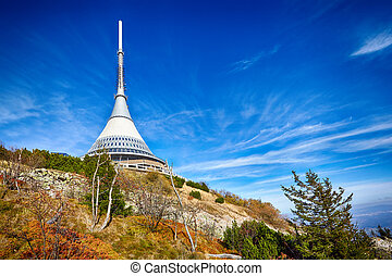 View on Jested tower ,Liberec, Czech Republic - view on...
