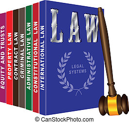 Set of books on law