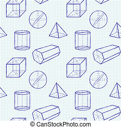 Geometrical figures - Seamless vector pattern wiht...
