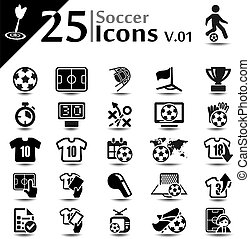 Soccer Icons v01 - Soccer icon set, basic series