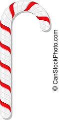 Candy Cane - Candy cane on white background, vector eps10...