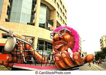 Carnival casino carrage in Cyprus carnival parade.