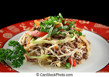 Beef Chow Mein 2 - Stirfry beef chow mein with fresh Chinese...