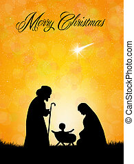 Christmas Nativity Scene silhouette