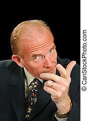 Demanding Businessman - Businessman in a demanding and...