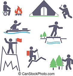 Tourism. Set icons for you design
