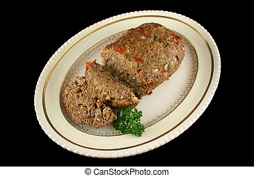 Lamb Meatloaf 1 - Freshly baked homestyle lamb meatloaf just...
