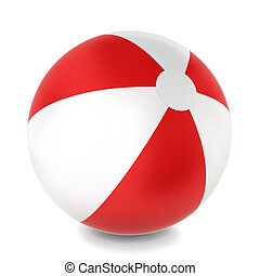 Beach ball. 3d illustration on white background