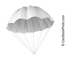 Parachute 3d illustration on white background