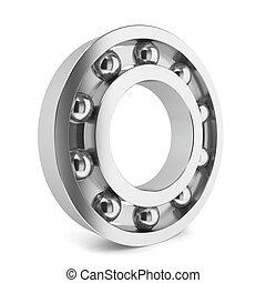 Steel ball bearing. 3d illustration on white background