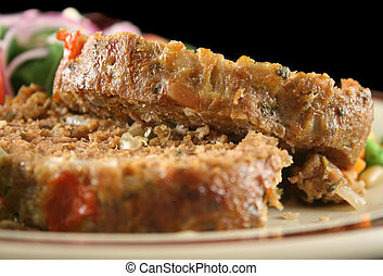 Meatloaf And Vegetables 5 - Homestyle lamb meatloaf with...