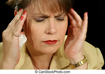 Migraine 1 - The throbbing pain of a migraine headache.