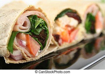 Mixed Wrap Platter 6 - Mixed platter of delicious ham and...