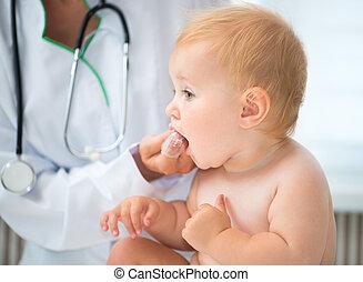 嬰孩, 醫生, 清洁, 牙齒