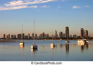 Seascape Against Skyline 2 - Dead calm early morning...