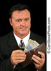 Smug Salesman - Smug salesman has made more money than he...