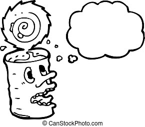 canned food cartoon character
