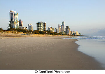 Surfers Paradise Gold Coast Australia - Early morning view...